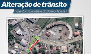 Alterações de trânsito para novas obras no Elevado do Rio Tavares