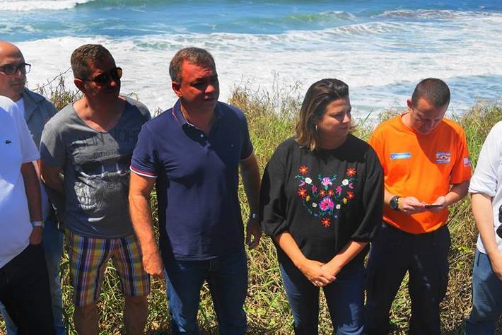 Gean Loureiro esteve no Caldeirão do Morro das Pedras na manhã deste domingo (1)
