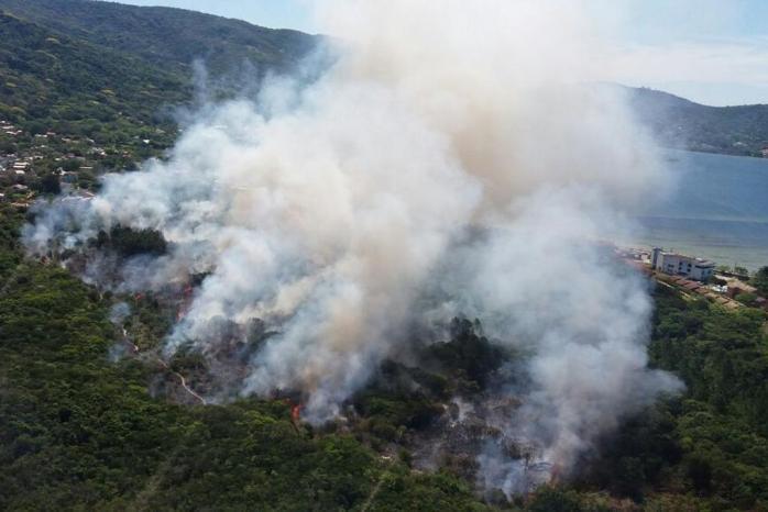 Chamas no Porto da Lagoa atingiram área de preservação permanente