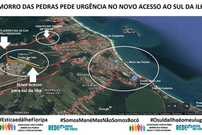 Morro das Pedras pede urgência no novo acesso ao Sul da Ilha
