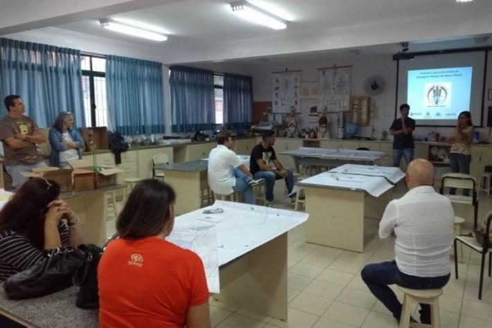 Oficina sobre drenagem urbana realizada no Saco Grande