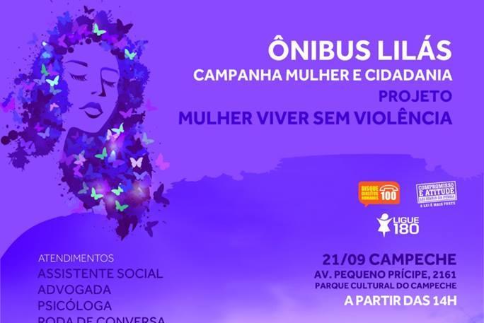 Ônibus Lilás no #OCUPACUCA - Campanha mulher e cidadania