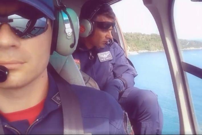Equipe do helicóptero Arcanjo participou das buscas
