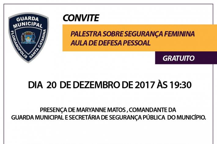 Palestra sobre segurança feminina e aula de defesa pessoal acontece dia 20