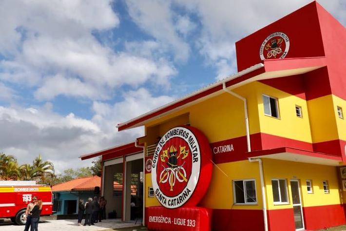 Primeiro quartel do Corpo de Bombeiros do Sul da Ilha é inaugurado